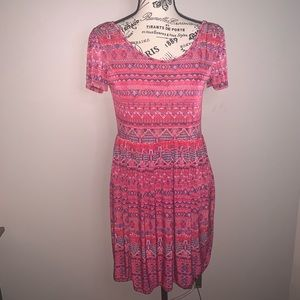 West loop Pink Patterned Dress Size M Backstraps